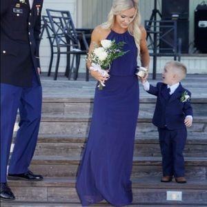 Navy wedding bridesmaid dress!